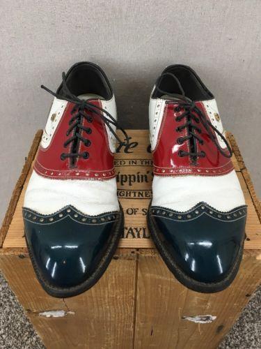 Vintage Footjoy Classics Red White