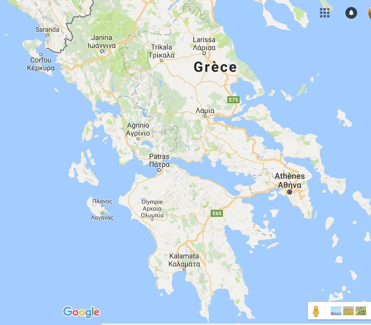Carte Grèce : Plan Grèce