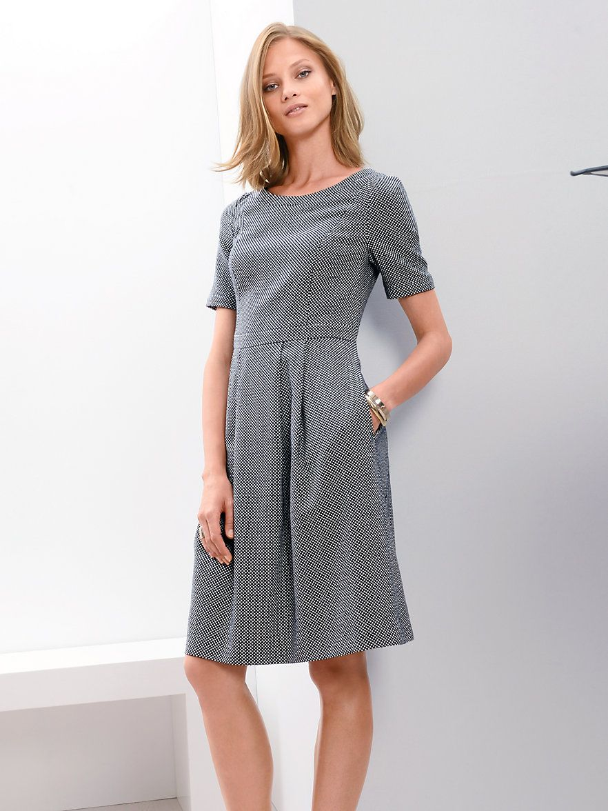 fadenmeister berlin - kleid - marine/weiß | fashion, dresses