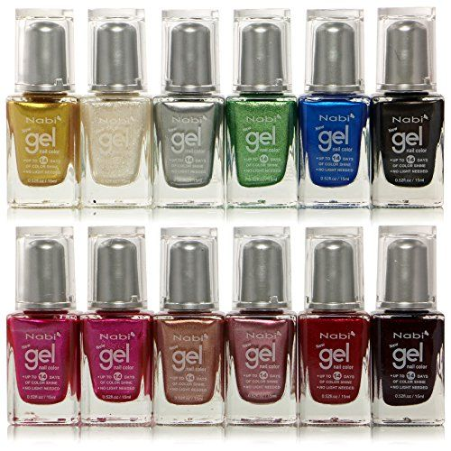 12pc Nabi Gel Nail Color Metallic Nail Polish Set Of 12 Color