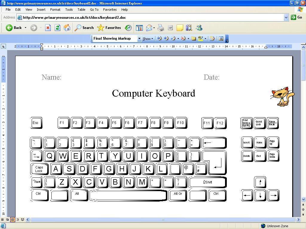 Printable Computer Keyboard