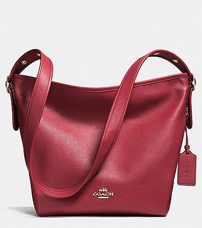 COACH DUFFLETTE IN POLISHED PEBBLE LEATHER | Herberger's