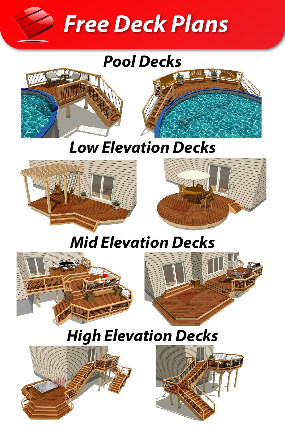 Our Free Deck Plans Have Everything You Need To Feel Confident When It S Time To Build Including Detailed Drawings Cost Free Deck Plans Deck Plans Dream Deck