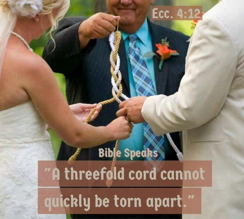 How To Make Your Own God Knot Cord Of Three Strands For A Wedding Ceremony Easy Do And On The Budget