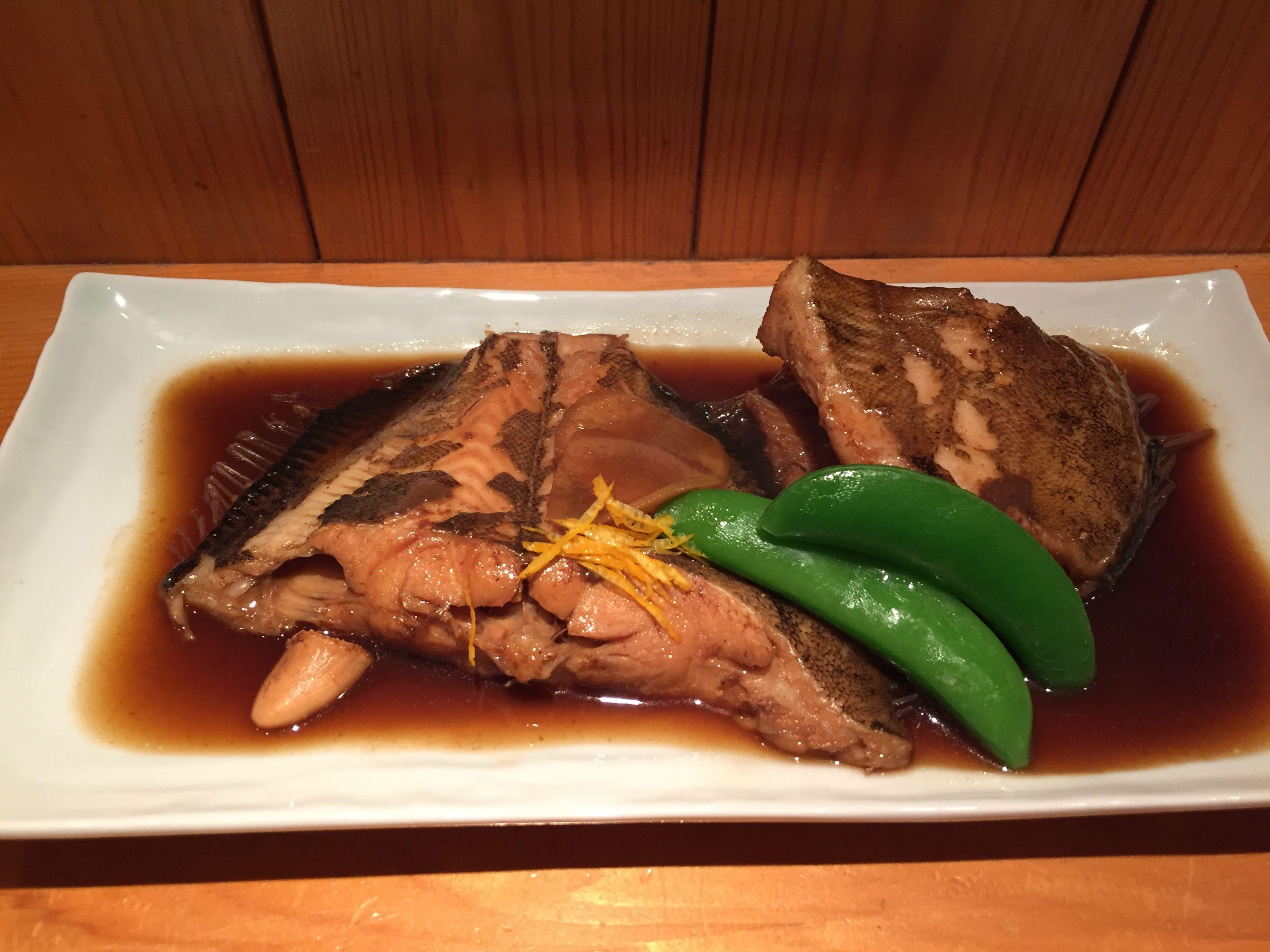 カレイの煮付け 鰈 Karei flatfish Japanese foods