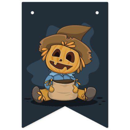Halloween Cute Jack O\u0027 Lantern Bunting Flags - halloween decor diy - halloween cute decorations