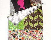 Baby Quilt , Patchwork Quilt , Play Mat , Stroller Liner , Bedding Buta Shop. $125.00, via Etsy.