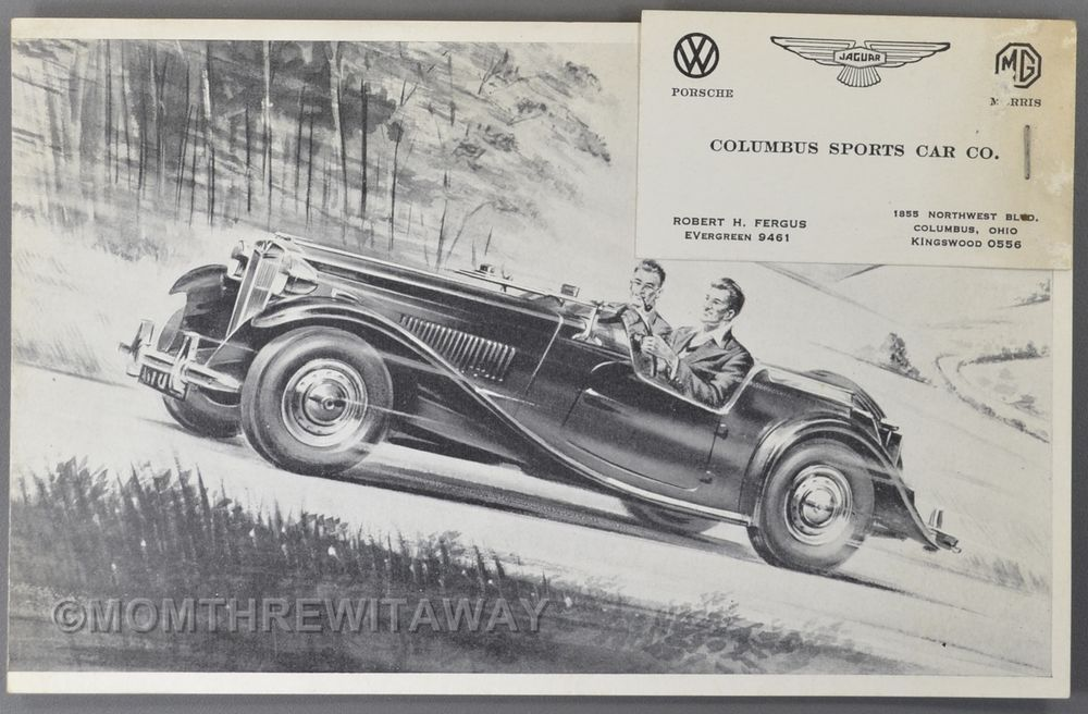 c1950 MG TD MIDGET SPORTS CAR Automobile Dealer Brochure with - sports brochure