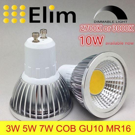 Spot Lamp Led Bulb Led Gu10 Cob Dimmable Mr16 2700k 3000k Warm White 3w 5w 7w 10w Bulb Replace Halogen Lamp Energy Saving Lamp Galogennaya Lampa Svetilniki I Osveshenie