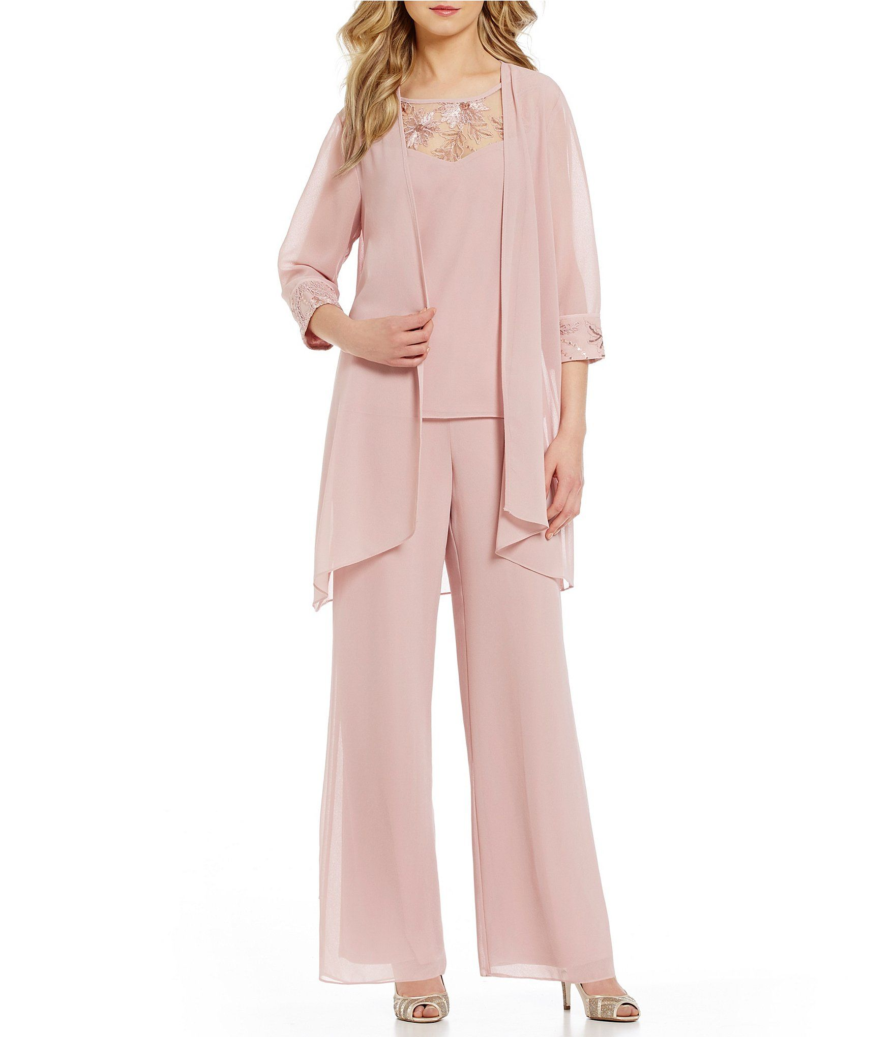 acceef3824 Shop for Le Bos Embroidered Chiffon 3-Piece Pant Set at Dillards.com.