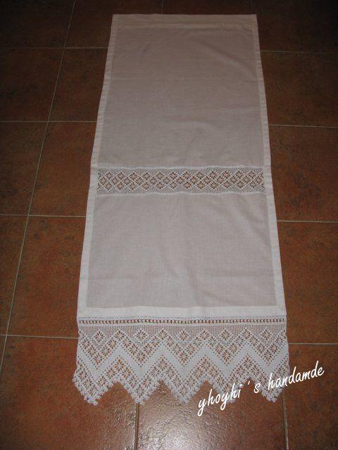 Visillo con cenefa y puntilla de ganchillo curtains - Puntillas para cortinas ...
