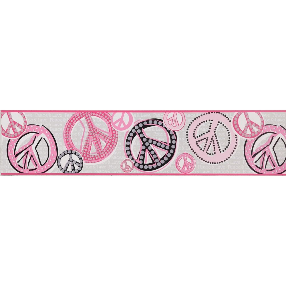 Peace Sign Wallpaper For Bedroom Wall Borders Peace Sign Wall Borders Stores Html Cachedpeace