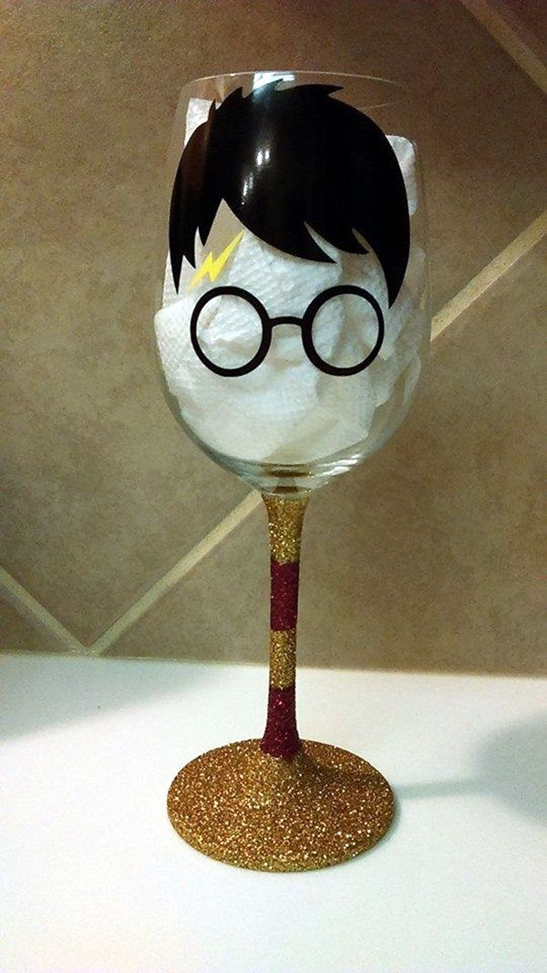 Pin On Painted Wine Glass
