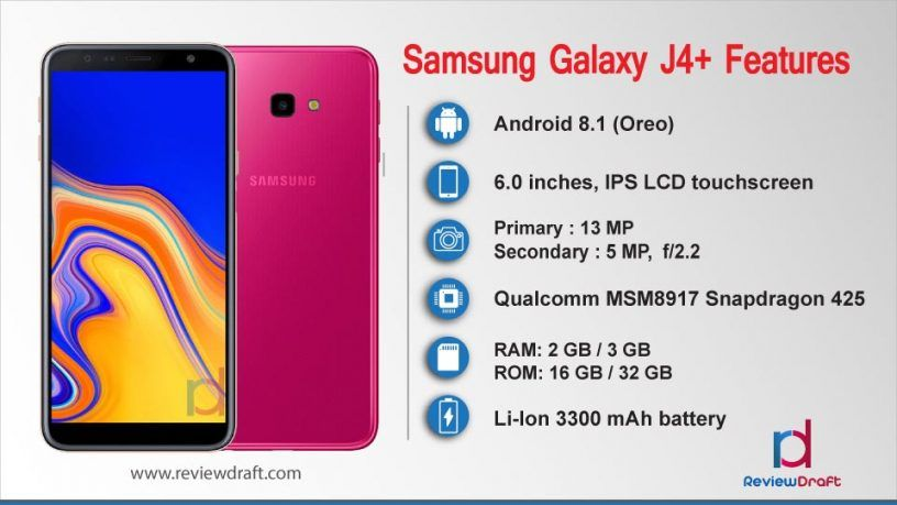Samsung Galaxy J4 Plus Price In Bangladesh Specification Review Draft Samsung Galaxy Samsung Samsung Mobile