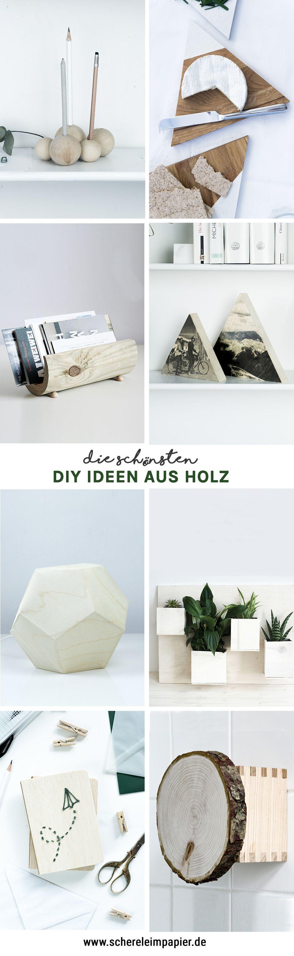 diy holz diy holz pinterest basteln mit holz diy geschenkideen und diy wohnen. Black Bedroom Furniture Sets. Home Design Ideas