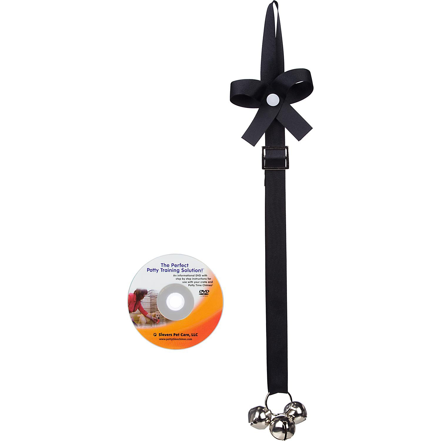 Sievers Pet Care Potty Time Chimes In Black 30 Length Housebreaking Made Easy Ring It Inside To Be Let Outside Informational Potty Time Pet Care Potty