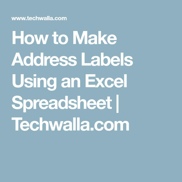 It's just an image of Unforgettable Easy Way to Make Address Labels