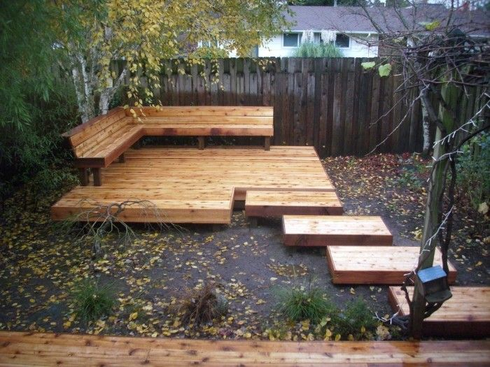 Japanese style cedar deck deck masters llc portland for Japanese decking garden