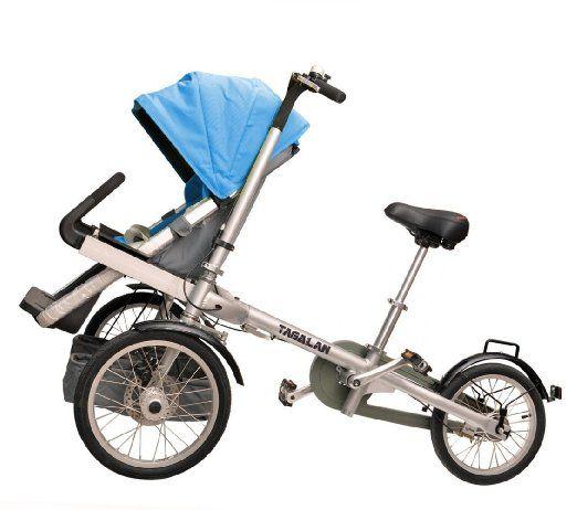 Tagalan 3 Wheels Mother Baby Bike Stroller Folding Bicycle 16inch ...