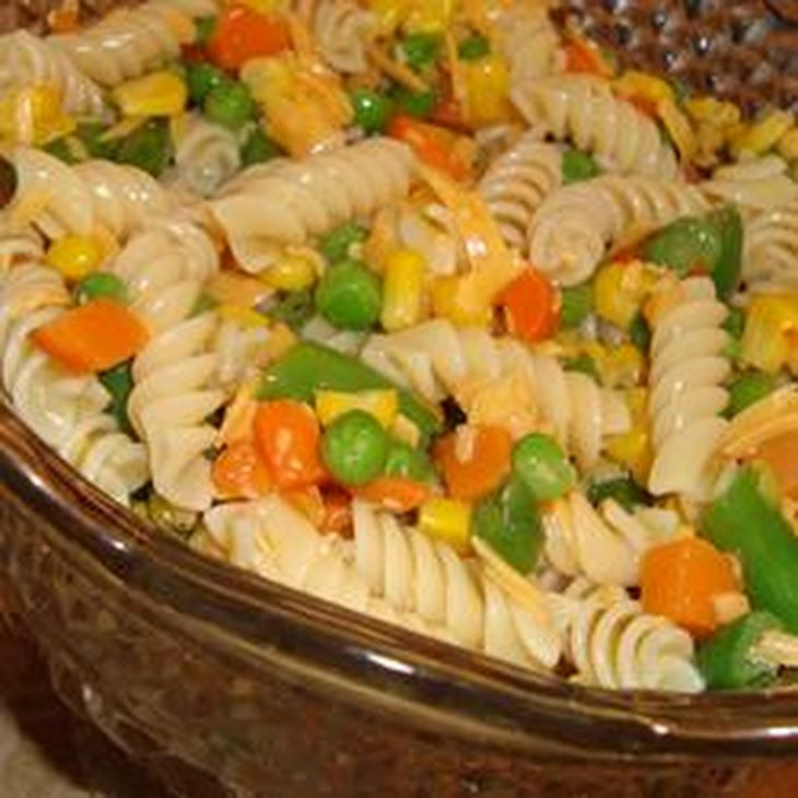 Italian Pasta Salad Recipe Side Dishes Salads With Rotini Frozen Mixed Vegetables Cheddar