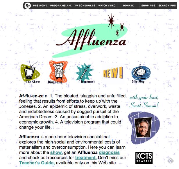 Affluenza: PBS Program on the Epidemic of Overconsumption