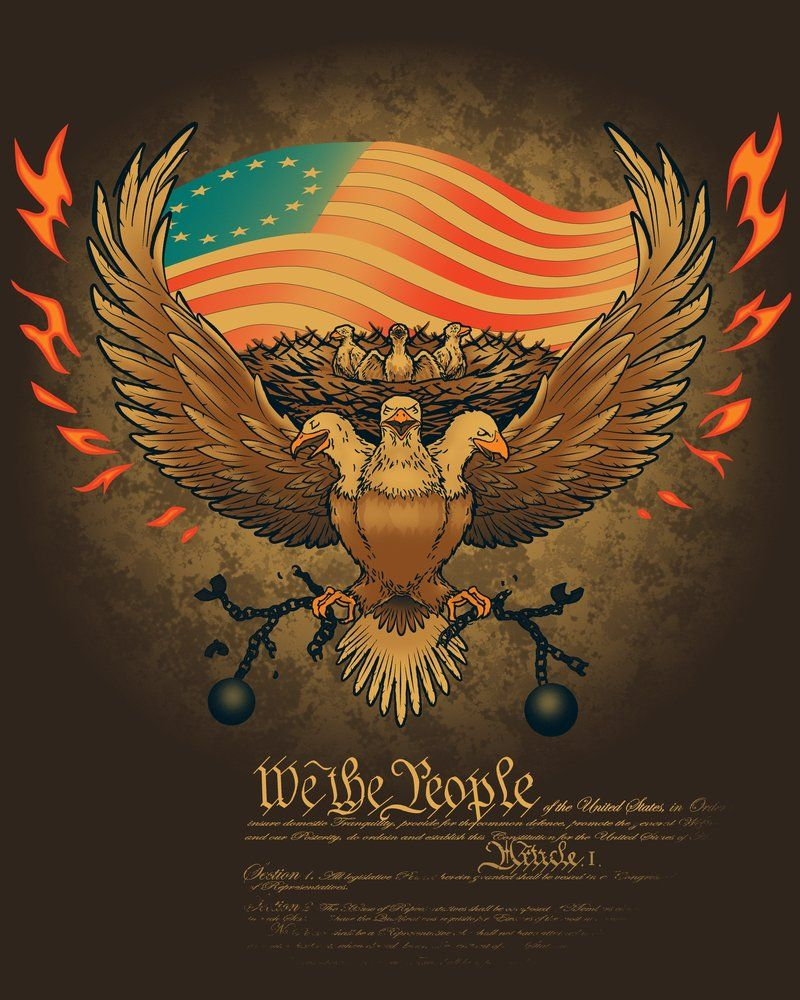The Three Headed Eagle Is A Symbol Of The American Government As