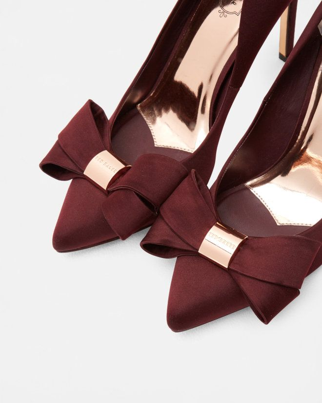 Statement bow court shoes - Oxblood | Shoes | Ted Baker