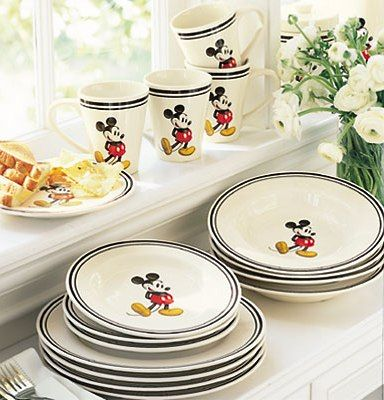 Charmant Mickey Mouse Dishes