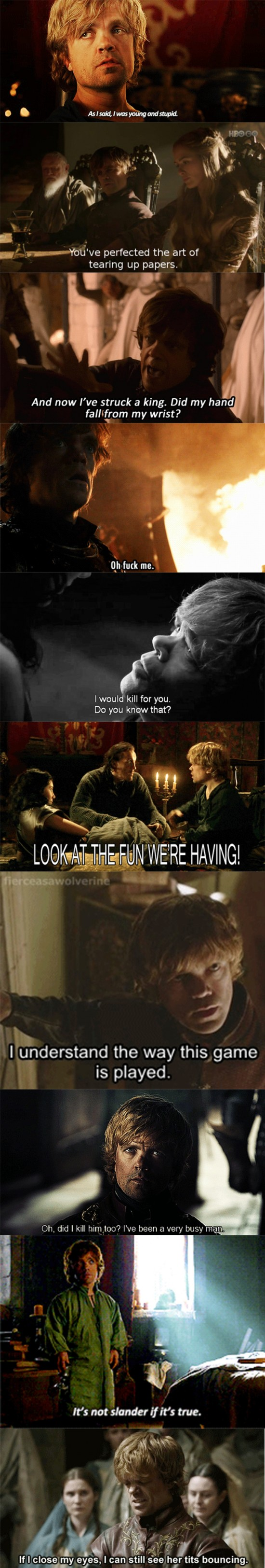 epic tyrion lannister lines game of thrones 1