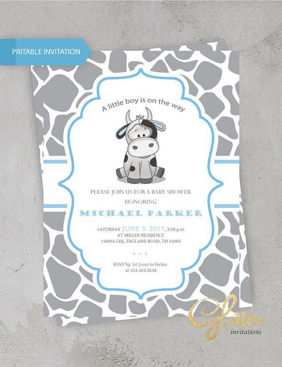 Cow Baby Shower Invitation