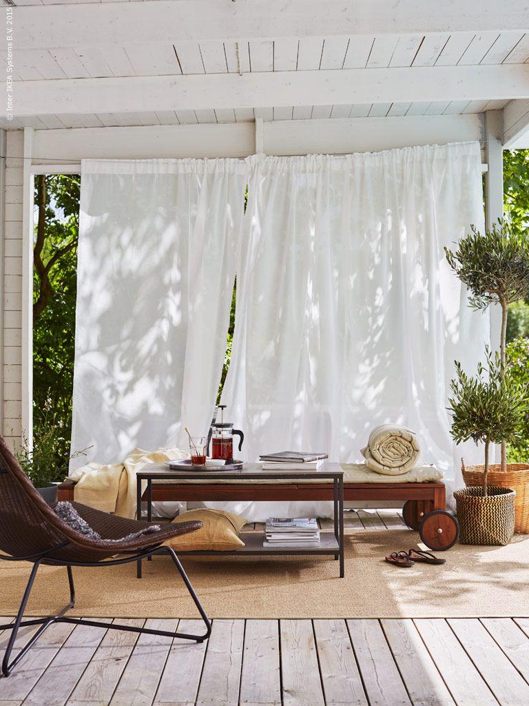 Sommarlounge Ikea Sverige Livet Hemma Outdoor Living Curtains