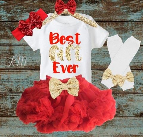 94dfbcd0e baby's 1st christmas outfit, best gift ever newborn Christmas onesie, my  first Christmas tutu, baby girl Christmas outfit, 1st Christmas