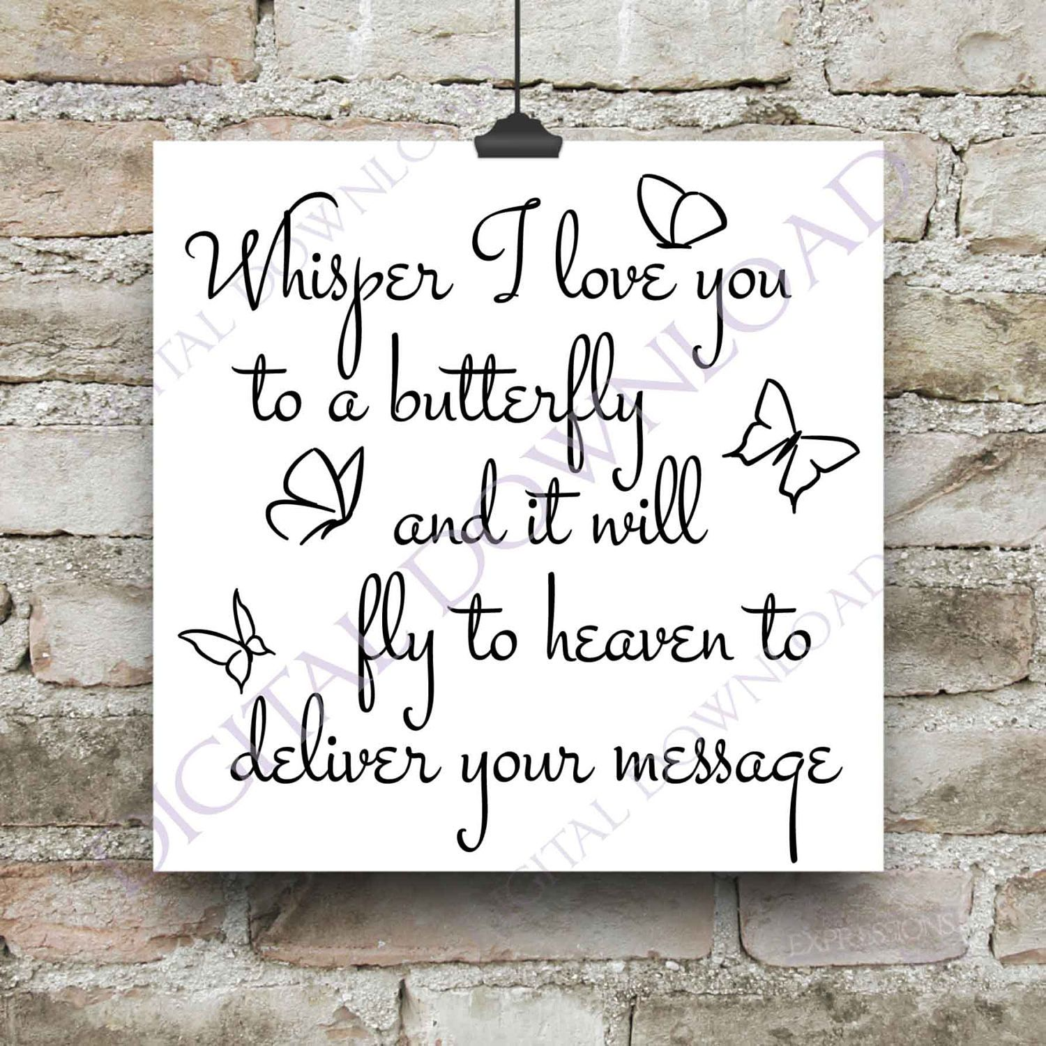 In Loving Memory Quotes Whisper I Love You To A Butterfly Vector Download  Ready To Use