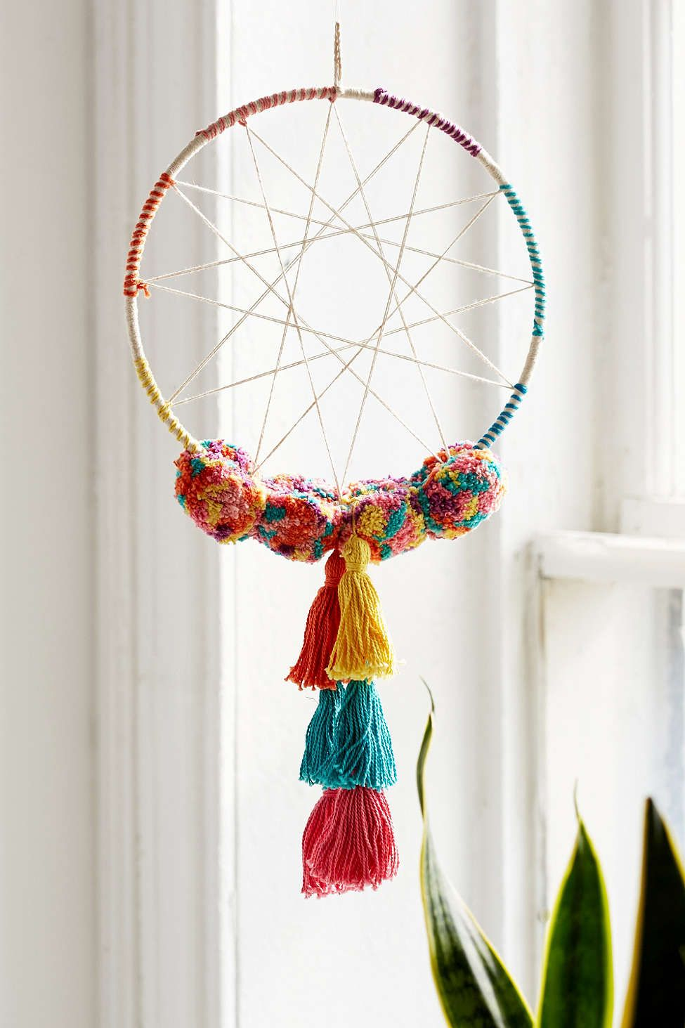 ~MAGICAL RAINBOW WEB DREAM CATCHER~Wall Hanging Ornament~Home~Office~