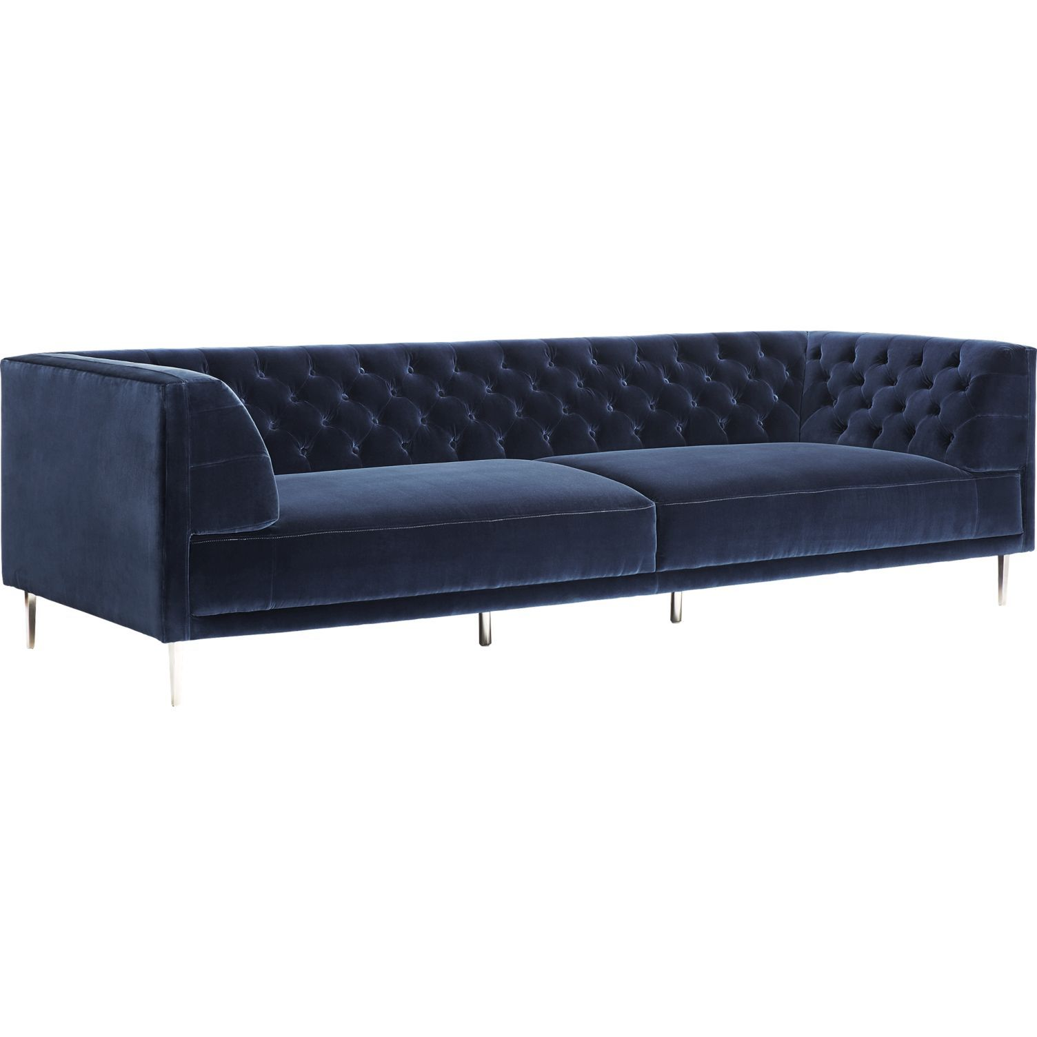 Magnificent Savile Midnight Blue Velvet Extra Large Sofa Reviews In Pabps2019 Chair Design Images Pabps2019Com
