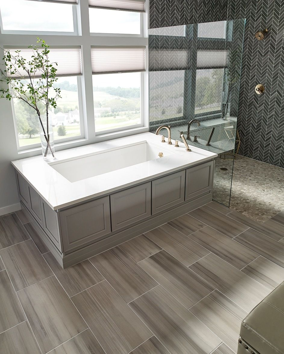 Soft Grey Porcelain tiles are perfect for a variety of design styles ...