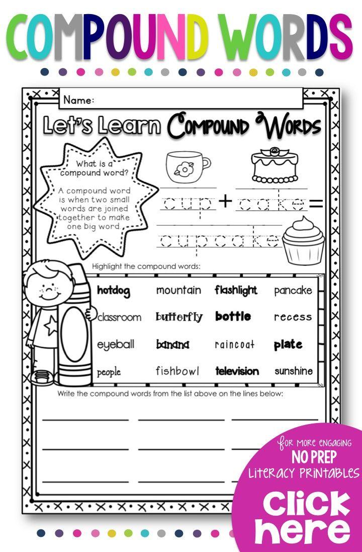 Compound Words Compound Words Kindergarten Lesson Plans Kindergarten Lessons