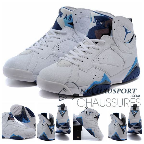 outlet store 4f712 9648c ... Nike Air Jordan 7 Classique Chaussure De Basket Homme Blanche-1; Big  Discount Nike Air Jordan 7 Homme Blanc Argent TNsA4 .