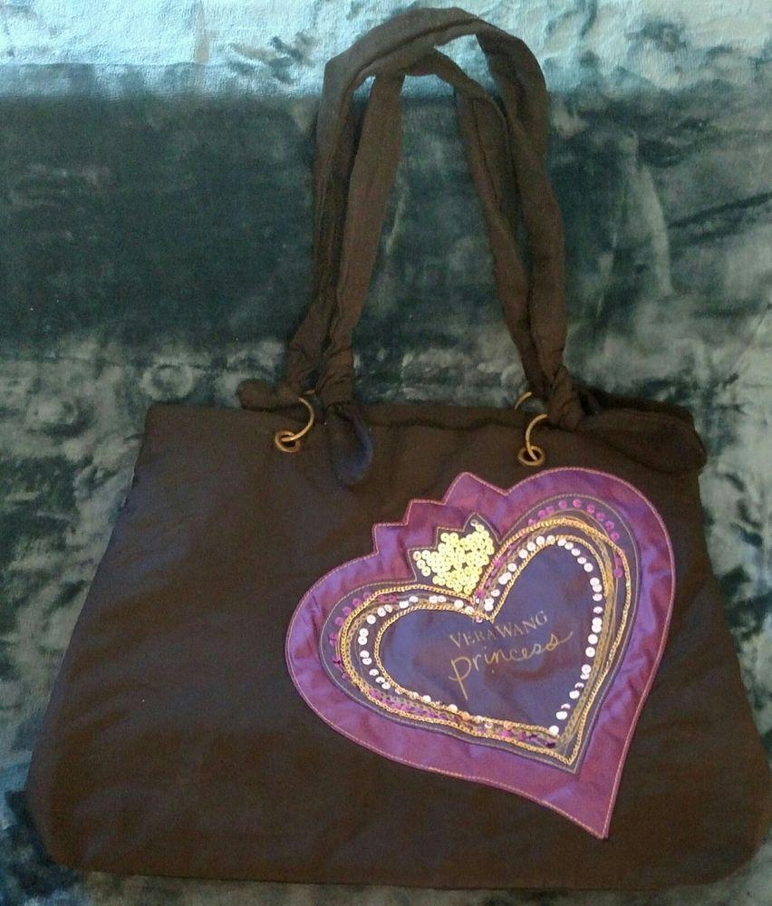 8d0ca679145 Vera Wang Handbag Shoulder Tote Bag PRINCESS Sequin Bling Hobo Black Purple  #wearsprada #prada #women #wearing #designer