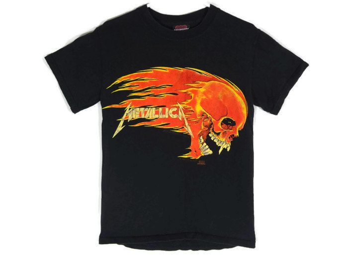 Vintage 1994 Metallica Shirt - Small - Heavy Metal - Thrash Metal - 90s  Clothing - Grunge - Band Tee - Tour Shirt - Pushead - by BLACKMAGIKA on Etsy 209df2387