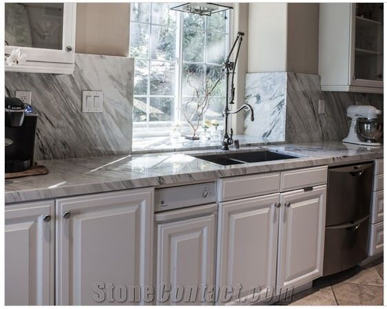 Bardiglio Nuvolato Marble Kitchen Countertop | Kitchen 2015