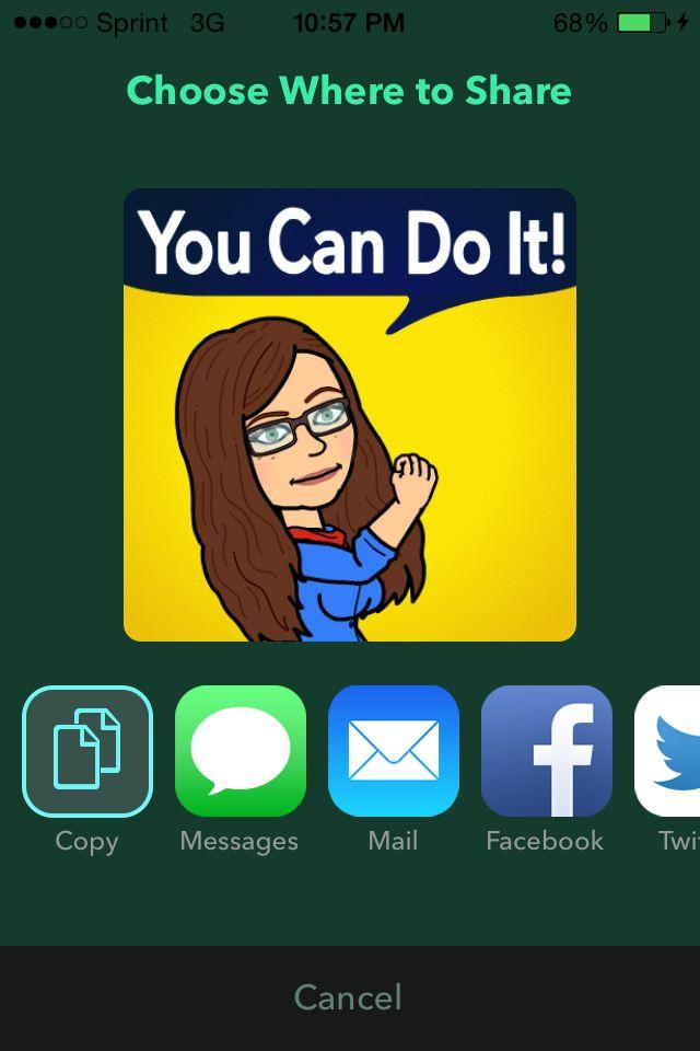 Bitmoji App create your look alike or a personal avatar
