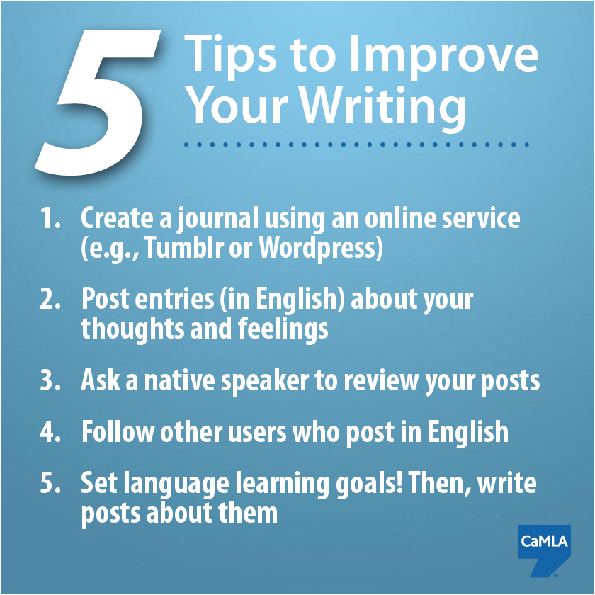 how to improve your writing skill Efficient ways to improve student writing site writing is an essential tool for learning a discipline and helping students improve their writing skills is a.