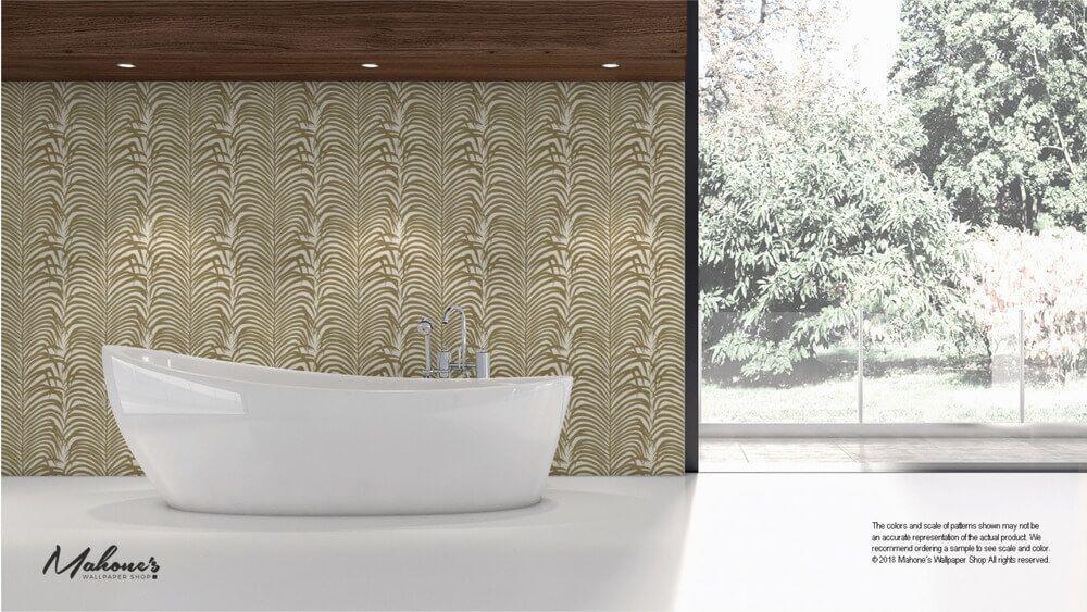 Schumacher Wallpaper Zebra Palm in Khaki (5006930) Shop