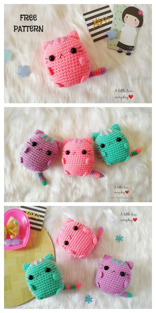 Cute Crochet Pusheen Amigurumi Free Patterns - DIY Magazine