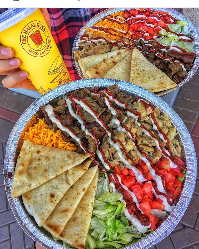 Oakland The Halal Guys Gyros Extra White Sauce Halal Guys Recipe Halal Recipes Food Goals