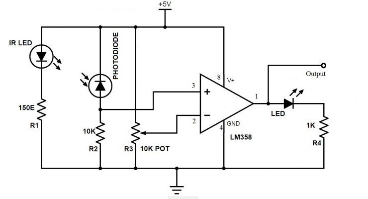 How To Make Arduino Line Follower Robot?   Lighting system ... Ir Sensor Schematic on thermocouple schematic, induction coil schematic, proximity sensor schematic, ultrasonic sensor schematic, ph sensor schematic, led schematic, pir sensor schematic, motion sensor schematic, backlight inverter schematic, capacitive sensor schematic, pulse generator schematic, speaker schematic,
