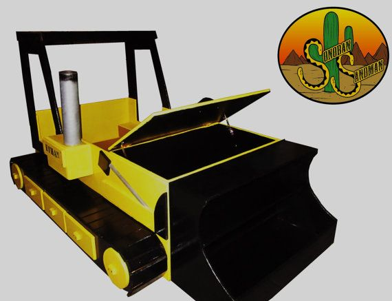 Construction bedding Bulldozer toddler bed by SonoranSandman ...