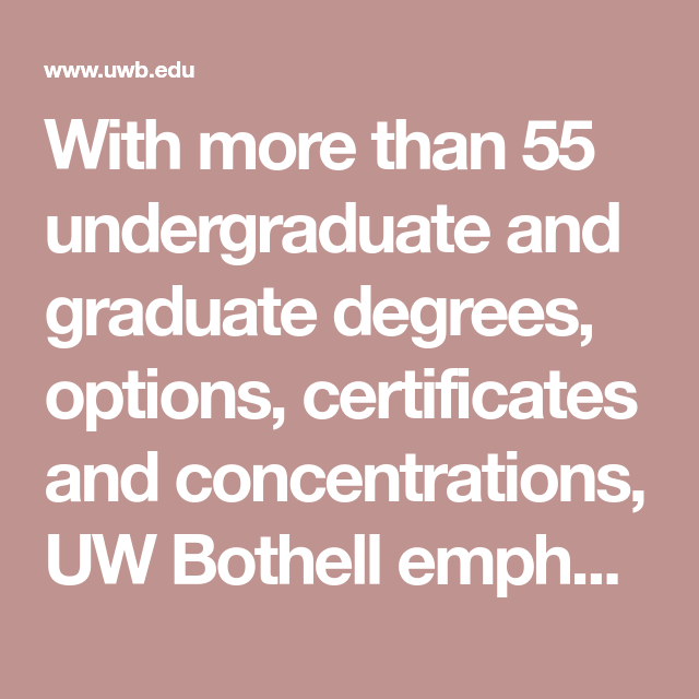 With More Than 55 Undergraduate And Graduate Degrees Options Certificates And Concentrations Uw Bot Letter Of Recommendation Faculty And Staff Undergraduate