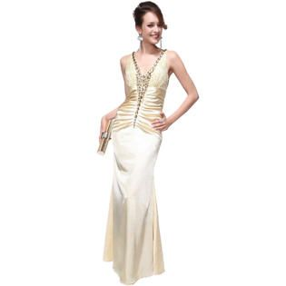 Ever-Pretty Ever Pretty Gorgeous Rhinestone V-neck Open Back Long Formal Prom Gown 09218 at Sears.com @tiphanie7241